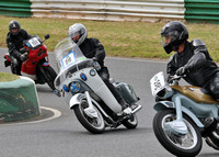 Roger James parading at Darley Moor on the Ariel 2014.